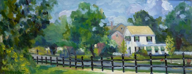 "A View on Main Street 6"" x 15"""