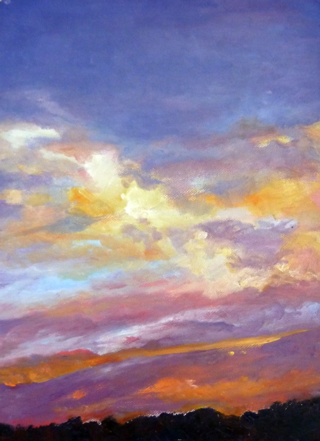 "Sky Painting 1 24"" x 36"" Oil"