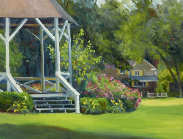 """Village Park"" 11"" x 14"" Oil on canvas"