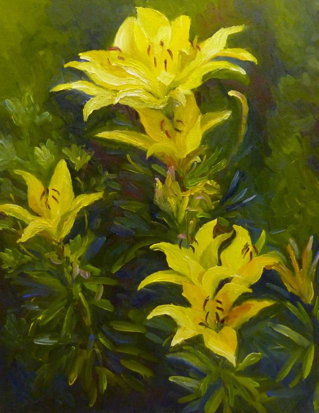 12 x 16 Yellow Lilies