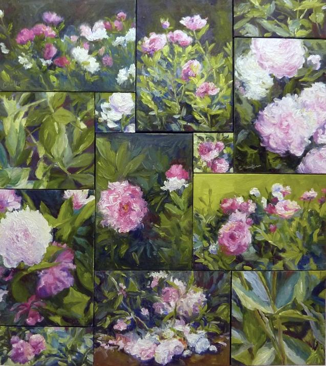 """""""Eternal Garden of Peonies"""" Oil     19"""" x 17"""""""