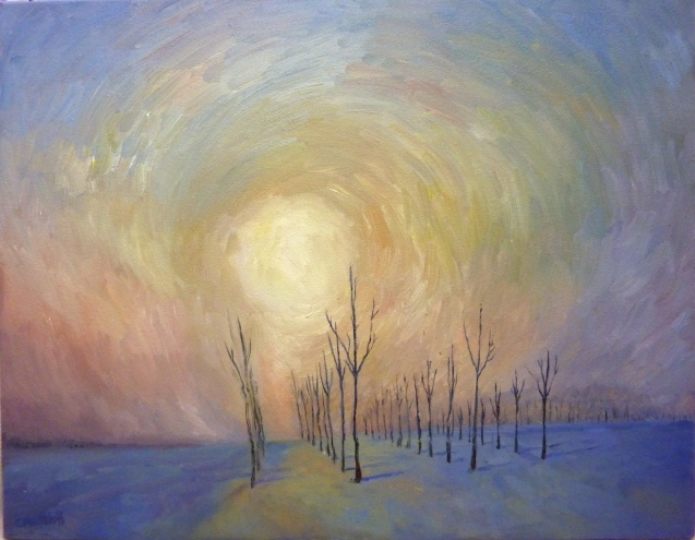 Winter at Sunrise 14 x18