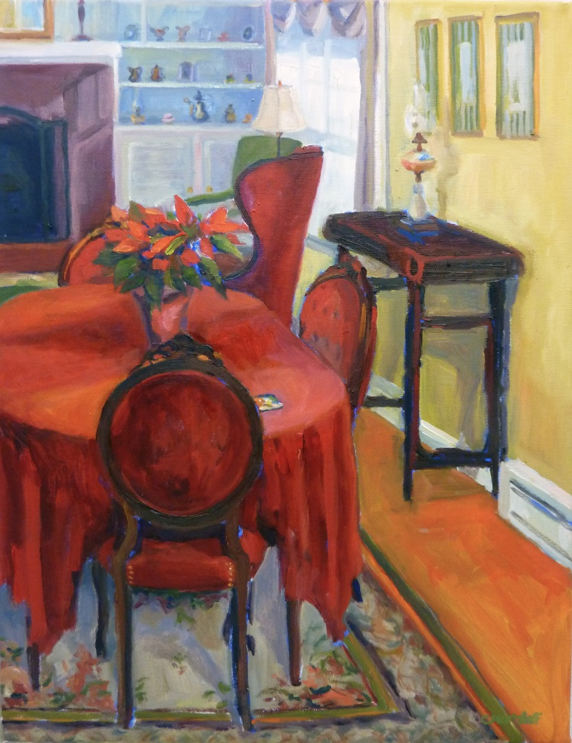 """Living Room Light""  18""x 14"" oil on canvas"
