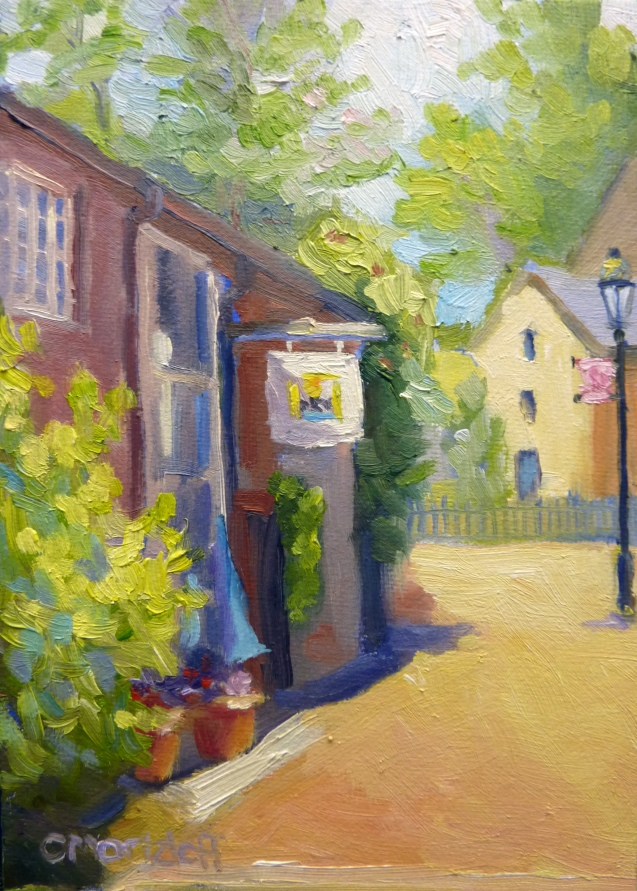 """5"""" x 7"""" oil on canvas New Hope"""