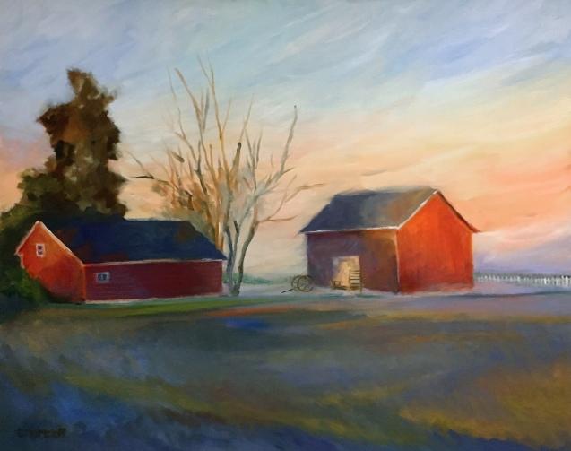 Misty Farm Morning