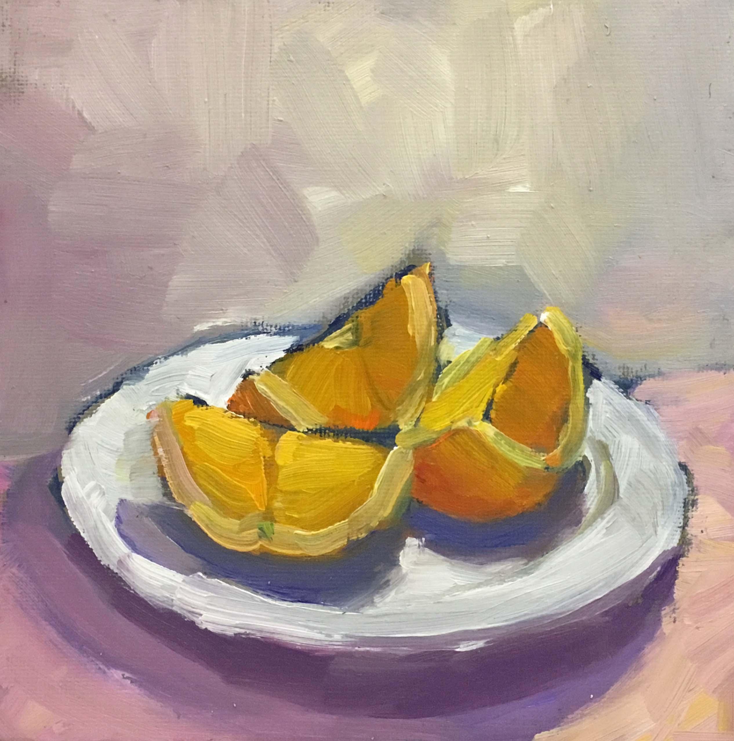 Orange Slices of Light 6 x 6_5389