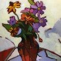 """A Jeweled Bouquet"" 18″x14″"