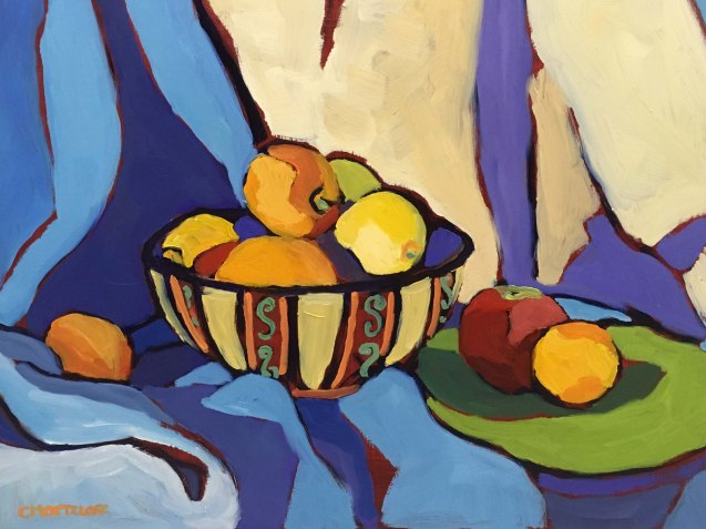 """Bowl Still Life"" 12"" x 16"" $435 oil on panel"