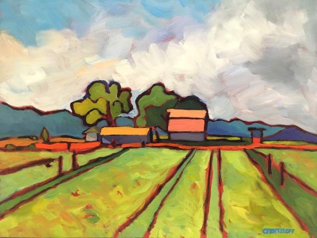 """Staging the Field"" 11""x 14"""