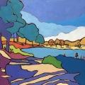 A Vibrant Summer Lake 24 x30_4133