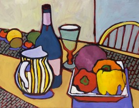 Colorful Contemporary still life oil painting