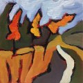Abstract Miniature Landscape Painting