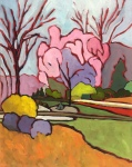 Abstract Landscape Oil Painting