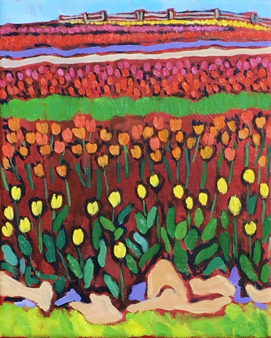 Original Tulip Painting for Sale
