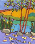 Plein Air Colorful Landscape Oil Painting