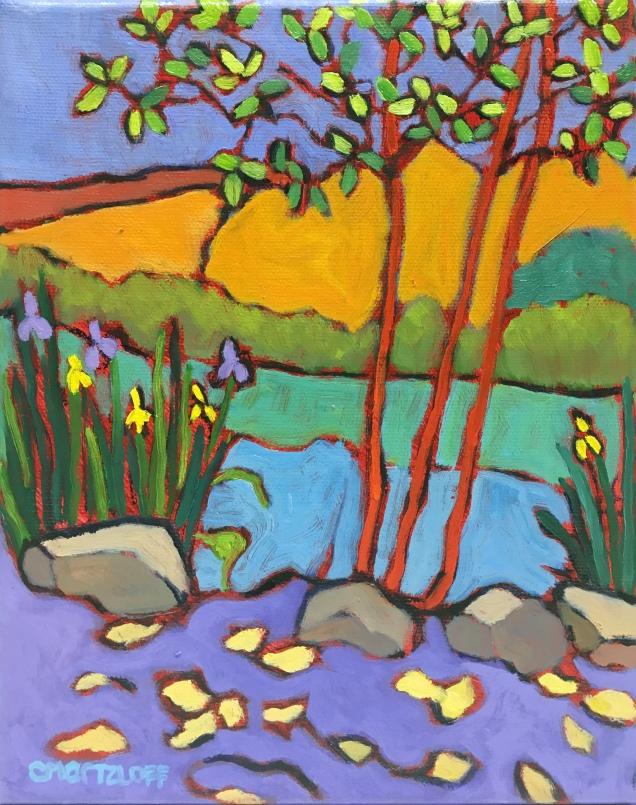 Plein Air Colorful Landscape Oil Painting