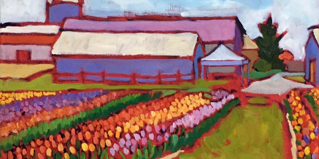 Original Farm Landscape Oil Painting for sale