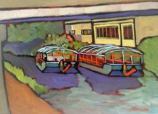 """River Boats"" 9"" x 12"""