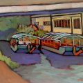 River Boats on the Canal 9 x12_5991D