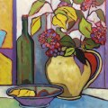"""$975 – """"The Graphic Table"""" -Oil oncanvas"""