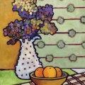 Hydrangeas and Plaid 20 x16_6976