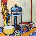 """$975 – """"The French Press"""" – Oil oncanvas"""
