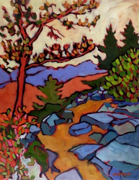 """""""Traveling in Maine"""" 18""""x 14"""""""