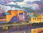 Colorful Expressionist Landscape Oil Painting