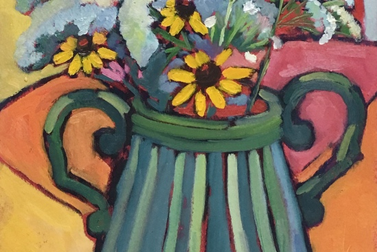 colorful still life oil painting
