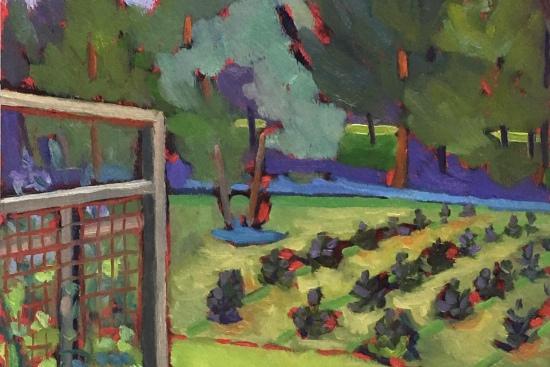 Plein Air Landscape Painting Tree Farm